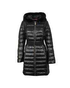 Ted Baker Womens Black Yandle Long Down Coat With Hood