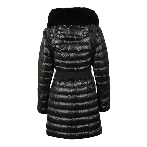 Ted Baker Womens Black Yandle Long Down Coat With Hood main image