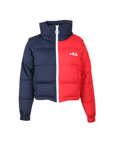 Fila Womens Red Martina Cropped Shell Puffer Jacket