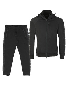 Emporio Armani Mens Black Eagle Taping Full Zip Tracksuit