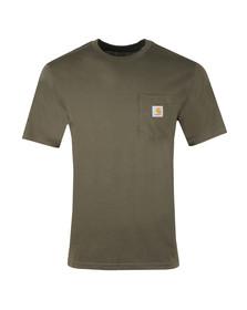 Carhartt Mens Green Pocket Crew T-Shirt