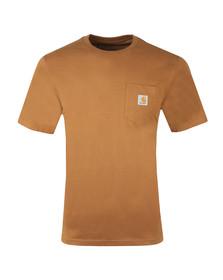 Carhartt Mens Brown Pocket Crew T-Shirt