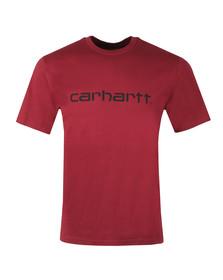 Carhartt Mens Purple S/S Script T-Shirt