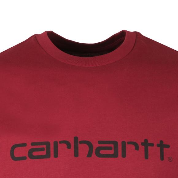 Carhartt Mens Purple S/S Script T-Shirt main image