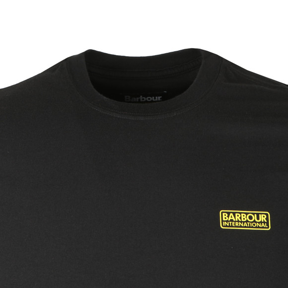 Barbour International Mens Black S/S Small Logo Tee main image