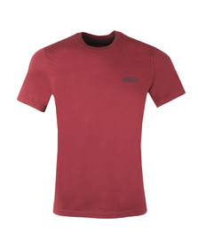 Barbour International Mens Red S/S Small Logo Tee