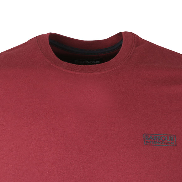 Barbour International Mens Red S/S Small Logo Tee main image