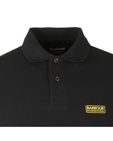 Barbour International Mens Black Essential Polo Shirt