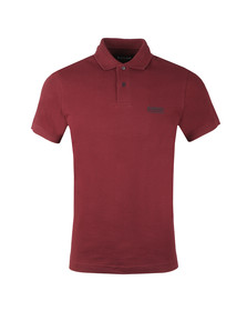 Barbour International Mens Red Essential Polo Shirt