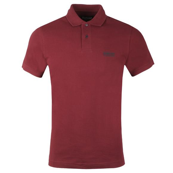 Barbour International Mens Red Essential Polo Shirt main image