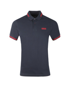 Barbour International Mens Blue Essential Tipped Polo