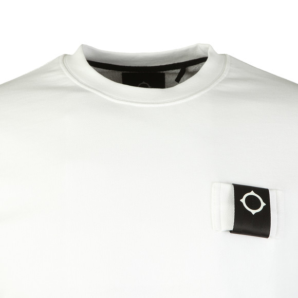 Ma.Strum Mens White Training Crew Sweat main image
