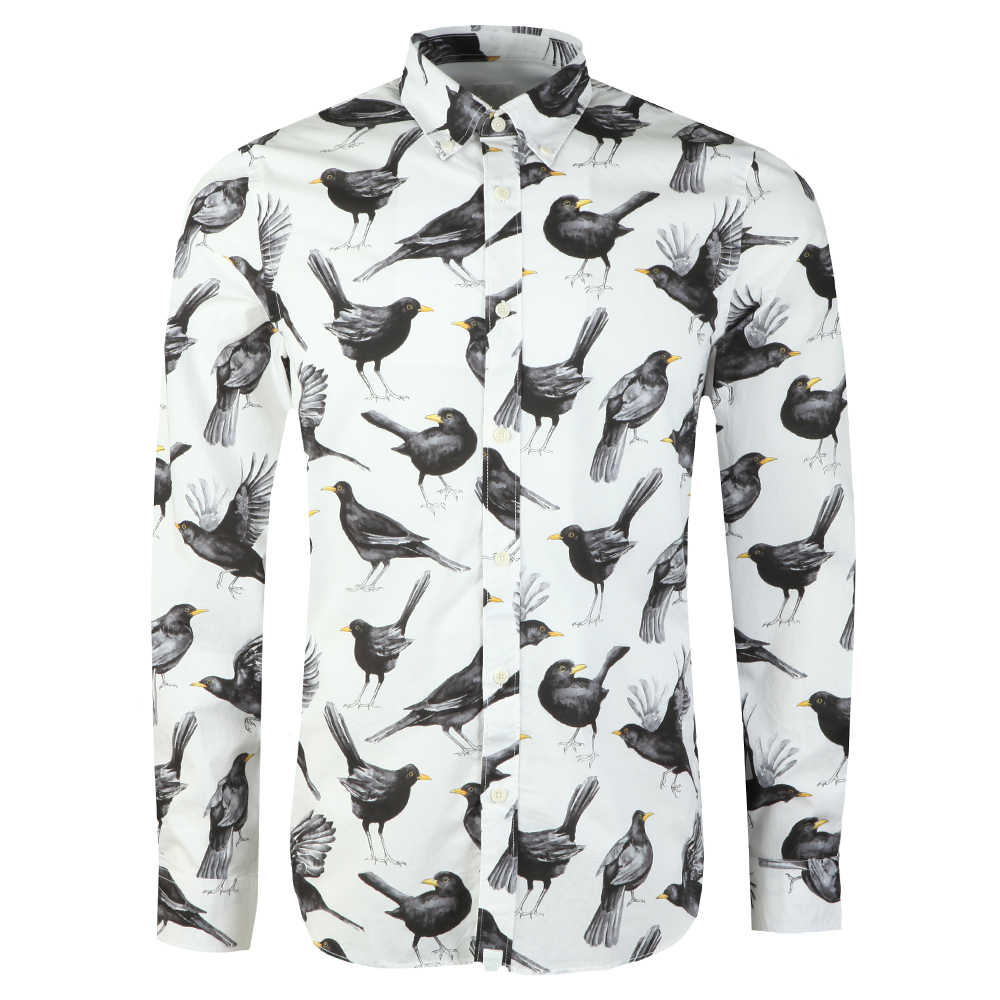 Beatles Blackbird Print Shirt main image