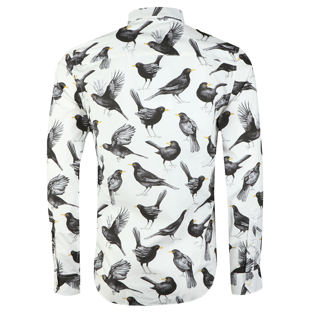 Beatles Blackbird Print Shirt main image
