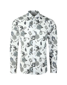 Pretty Green Mens Grey Beatles Prudence Print Shirt