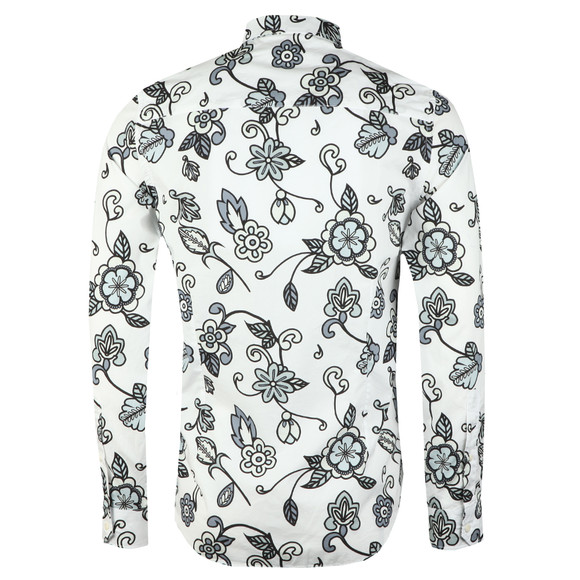 Pretty Green Mens Grey Beatles Prudence Print Shirt main image