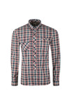 Pretty Green Mens Blue Classic Fit Check Shirt