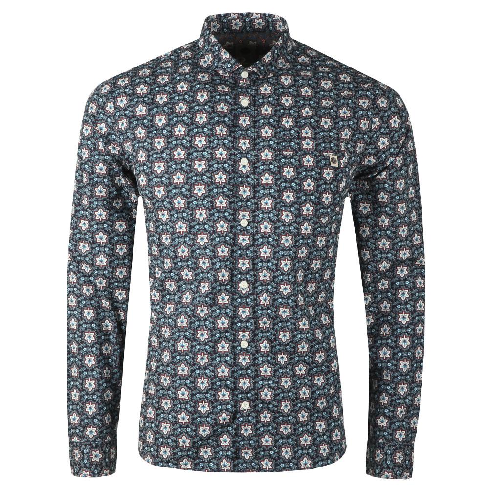 Slim Fit Leaf Print Shirt main image