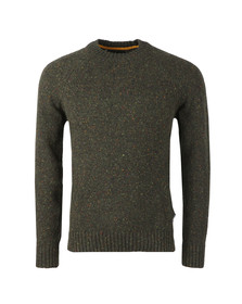 Barbour Lifestyle Mens Green Netherton Crew Jumper