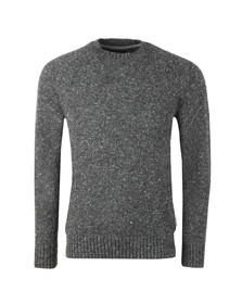 Barbour Lifestyle Mens Grey Netherton Crew Jumper