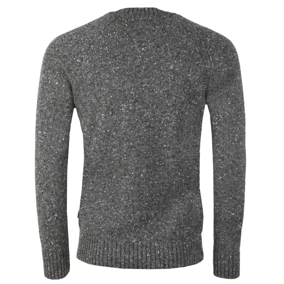 Barbour Lifestyle Mens Grey Netherton Crew Jumper main image