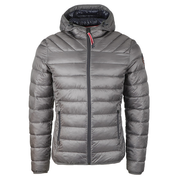 Napapijri Mens Grey Aerons Hooded Jacket main image
