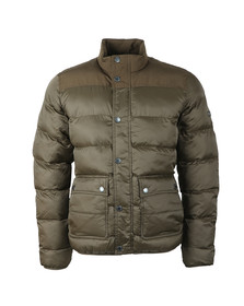 Barbour International Mens Green Tuck Quilt Jacket