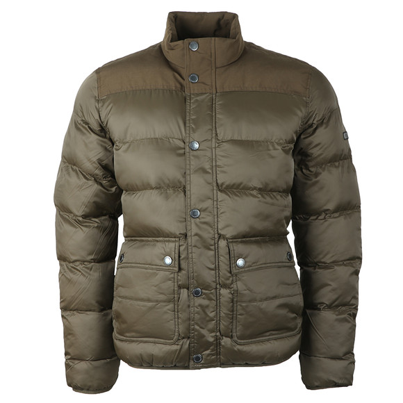 Barbour International Mens Green Tuck Quilt Jacket