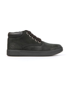 Timberland Boys Black Davis Square Leather Chukka Boot