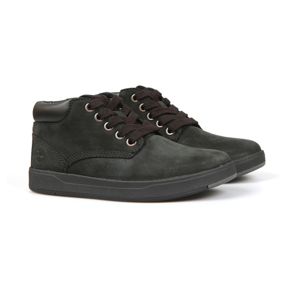 Timberland Boys Black Davis Square Leather Chukka Boot main image