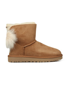 Ugg Womens Brown Fluff Bow Mini Boot