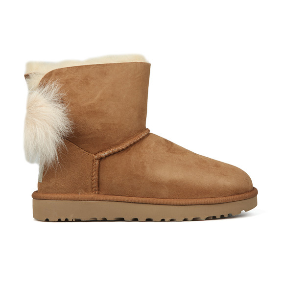 Ugg Womens Brown Fluff Bow Mini Boot main image