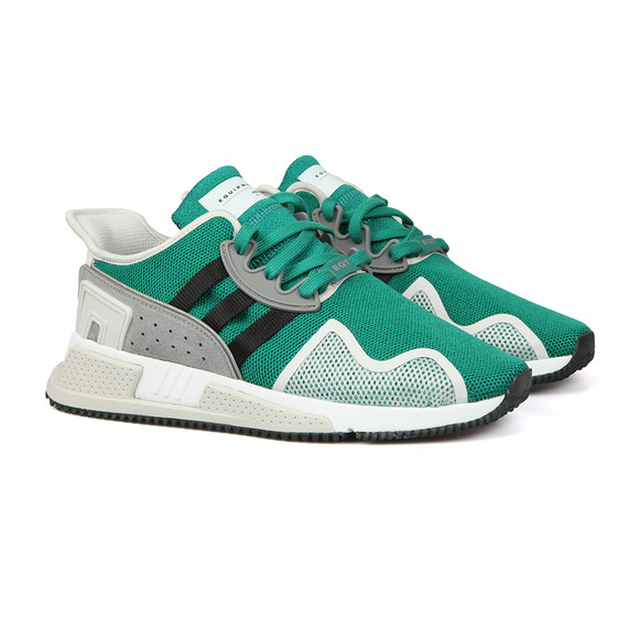 adidas Originals Mens Green EQT Cushion ADV Trainer main image