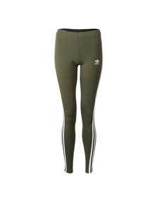 Adidas Originals Womens Green 3 Stripes Legging