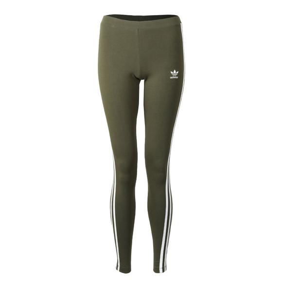 adidas Originals Womens Green 3 Stripes Legging main image