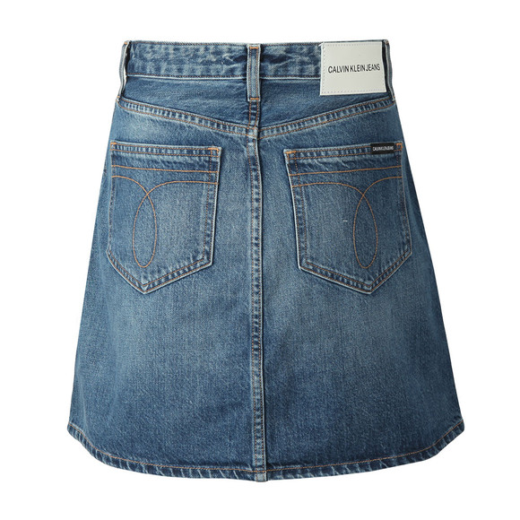 Calvin Klein Jeans Womens Blue High Rise Mini Skirt main image