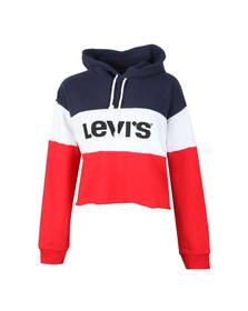 Levi's Womens Multicoloured Raw Cut Colourblock Crop Hoody