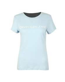 Calvin Klein Jeans Womens Blue Institutional Logo T Shirt