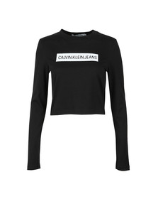 Calvin Klein Jeans Womens Black Institutional Box Logo T Shirt