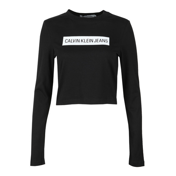 Calvin Klein Jeans Womens Black Institutional Box Logo T Shirt main image