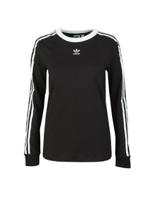 adidas Originals Womens Black 3 Stripes Long Sleeve T Shirt