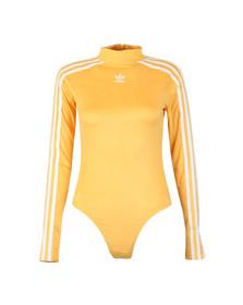 Adidas Originals Womens Yellow 3 Stripes Bodysuit