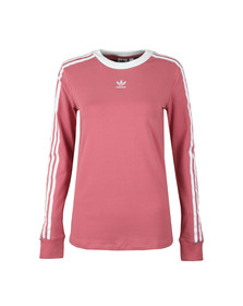 adidas Originals Womens Pink 3 Stripes Long Sleeve T Shirt