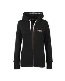 Superdry Womens Black Orange Label Elite Zip Hoody