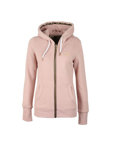 Superdry Womens Pink Orange Label Elite Zip Hoody