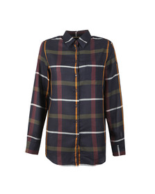 Barbour Lifestyle Womens Navy Check Oxer Shirt