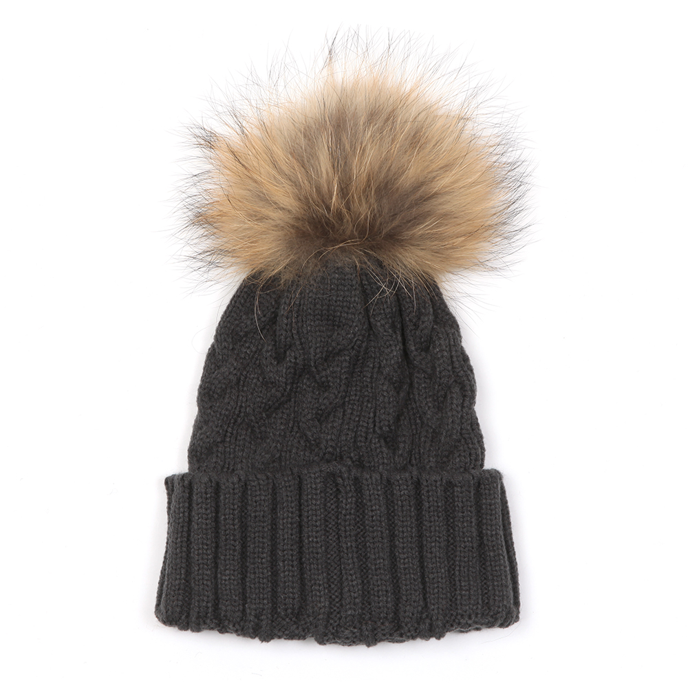 Holland Cooper Cable Knit Faux Fur Bobble Hat  03613d7bc38