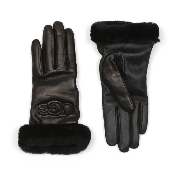 Ugg Womens Black Classic Leather Logo Glove main image