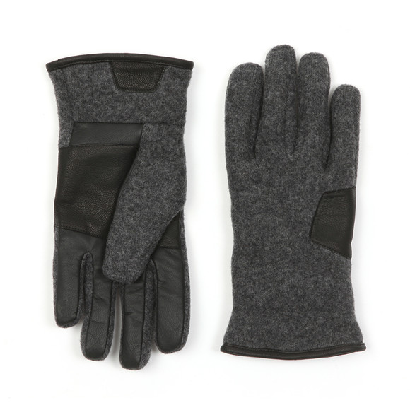 00288745f1223 Ugg Mens Grey Fabric & Leather Gloves main image