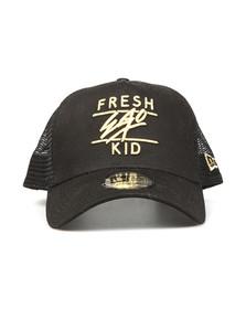 Fresh Ego Kid Mens Black New Era Mesh Trucker Cap